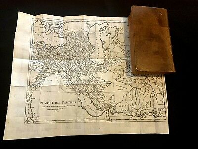 1749 HISTORY OF ROMAN EMPERORS with Parthian Empire Map