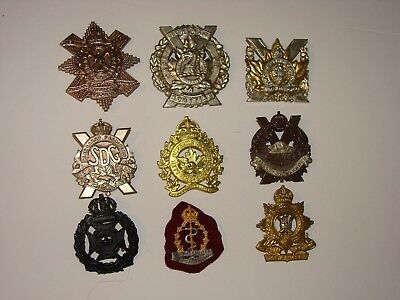 Canada WW2 Military Cap Badge Lot # 1 (JS3)