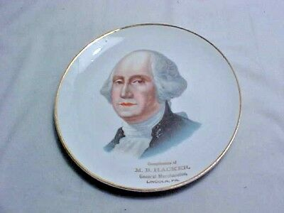 Vintage Adv Plate - Compliments M B Hacker General Merchandise Lincoln PA