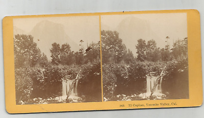 Stereoview- El Capitan- Yosemite Valley, California/ Kilburn Bros.