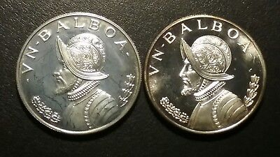 1967 And 1972 Panama Vn Balboa Coins Lot