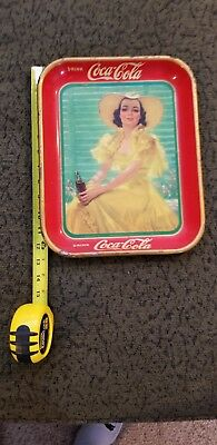 Vintage 1938 Coca Cola Tray - Girl in Yellow Dress