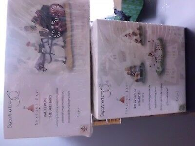Dept 56 Seasons Bay 2 Sets  Relaxing in the Garden & Back from the Orchard..NEW