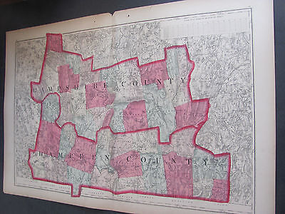 1871 Hampshire and Hampden Count Atlas Map Hand Colored