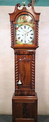 Victorian Mahogany 8 Day Scottish Grandfather Clock J.wiseman , Hamilton