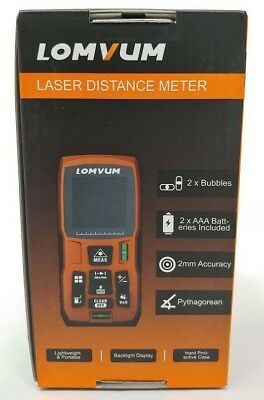 100m 328ft Laser Distance Meter Range Finder Tape w/ Batt Digital LCD USA Ship!