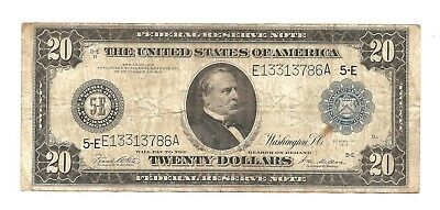 1914 $20.00 LARGE BLUE Seal RICHMOND Federal Reserve Note