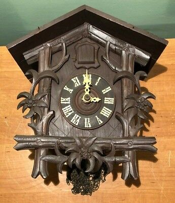 Vintage Cuckoo Clock- As Is For Parts Or Restoration