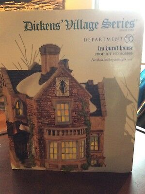 "Dept. 56 Dickens' Village Series ""lea Hurst House""  Retired 808869- New"