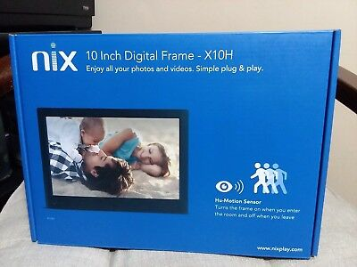 "10"" Almost  New Nix Digital Photo Frame"
