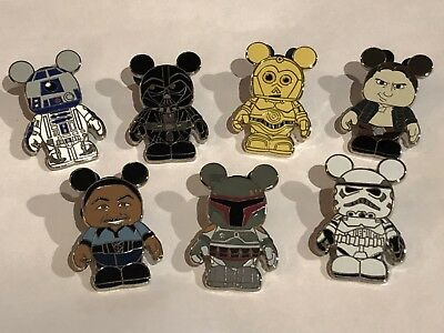 Star Wars Vinylmation Mystery Pin Collection Complete Set Boba Fett, Lando
