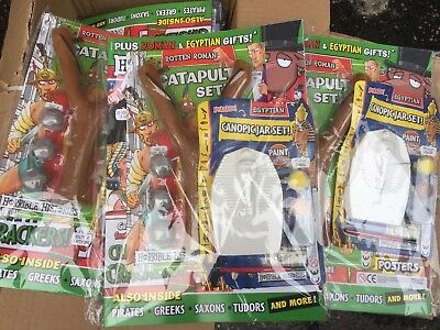 JOB LOT WHOLESALE 10 x HORRIBLE HISTORIES MAGAZINES WITH TOY / GIFT