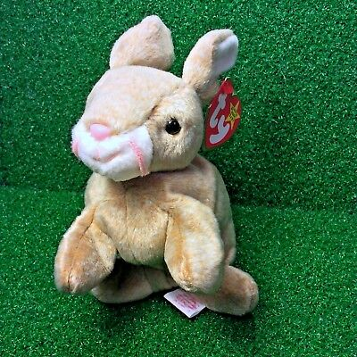 Ty Beanie Baby Bunny Special Nibbly The Rabbit Retired Plush Toy - MWMT