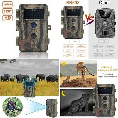 Digitnow Trail Camera 16Mp 1080P Hd Waterproof, Wildlife Hunting Scouting Game C