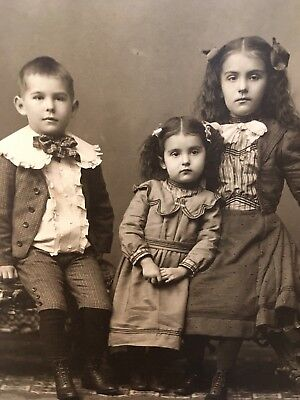 FOUR (4) Victorian Antique Cabinet Cards. All Children Photographs. Owatonna MN.