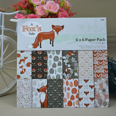 Decor DIY Pads Card Making Art Background Scrapbooking Paper Craft Foxs Origami