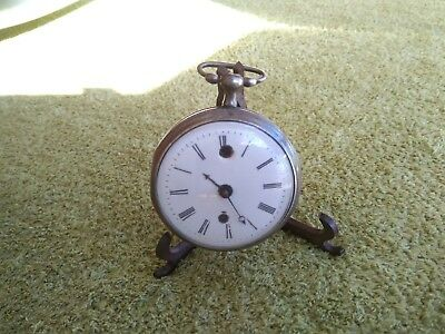 Rare Repeater Alarm Pocket Watch Bull Eye Crystal Monnet A Chaboudot Coq Reveil
