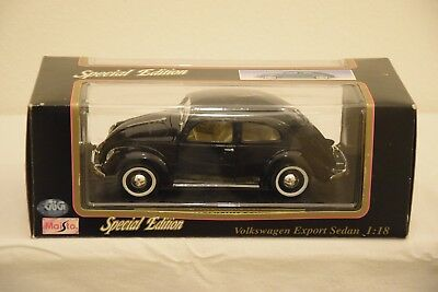 Maisto Special Edition Volkswagen Export Sedan Maggiolino Käfer Bug (1951) 1:18