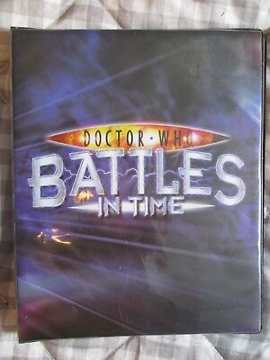 Great Retro Dr Who Battles In Time Card Album + 28 Cards Pristine (2006 - 07)