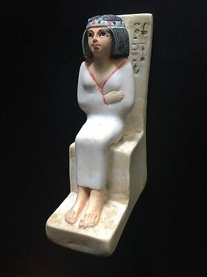"""Egyptian Replica 4"""" Statue of Noblewoman Nofret • Made in Egypt • FREE SHIPPING!"""
