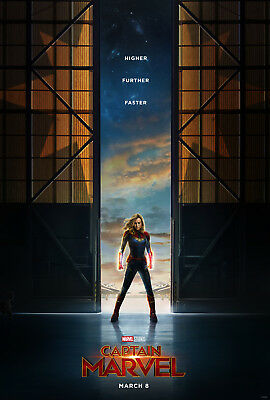 NEW Captain Marvel Movie Poster, 27x40 2-sided, Brie Larson