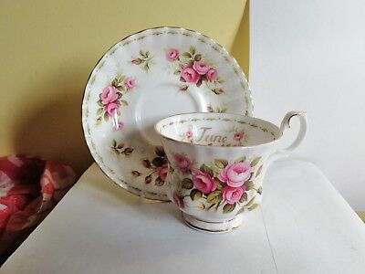 Royal Albert Flower Of The Month Tea Cup & Saucer 1St Quality