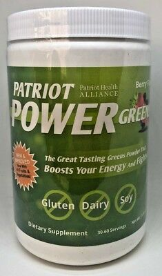 Patriot Power Greens I Berry Flavor I Large Canister I 30-60 Servings I New
