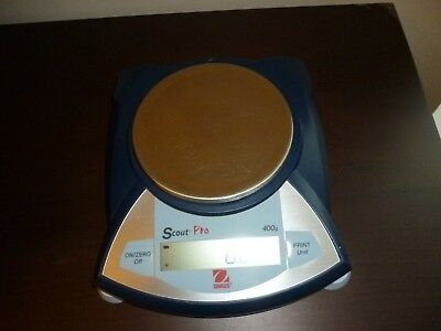Ohaus Scout Pro Digital Scale Balance SP401 0.1g readability 400g w/ AC Adapter