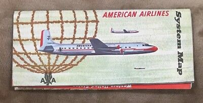 1950s American Airlines Route System Map