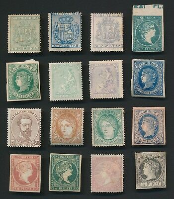 Spanish West Indies Stamps 1855-1878 Beautiful Group Of Mint Og F/vf