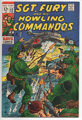 Sgt. Fury and his Howling Commandos 63 Silver Age Comic Book VF- 7.5
