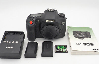 Canon EOS 7D 18.0MP Digital SLR Camera & Extras—SHUTTER COUNT ONLY 5,361