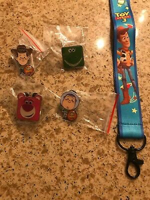 Disney Toy Story Trading Pins w/ FREE Toy Story Lanyard