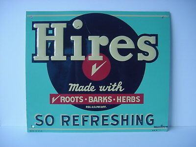 Vintage Hires Root Beer Tin Enamel Sign