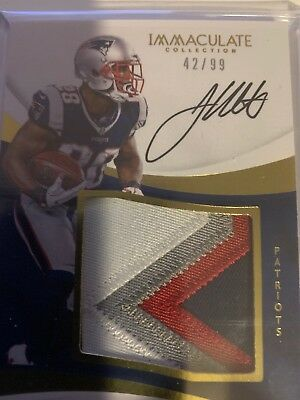 2017 James White Immaculate Collection Rate GU Auto # 42/99