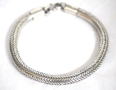 Sterling Silver Eastern Rope Choker Necklace Extra Thick 12MM RA Rajasthan