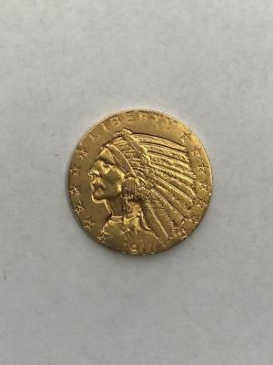 1911 $5 Indian Head Gold Coin.!! Uncertified.. NR.!!