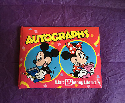 Vintage Red Disney World Autograph Book With 21 Signatures.