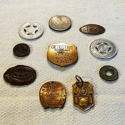 Badges, Tokens, Medallions - Historical Antique Collection, Lot of 10