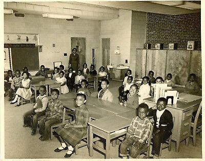 2 Large African American School Room Photographs - Great Images.