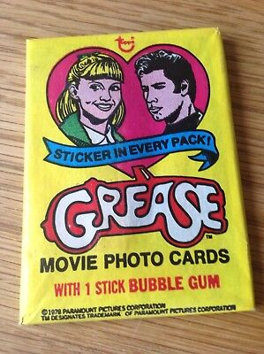 1978 Grease Topps Trading Cards Unopened pack cards stickers bubblegum