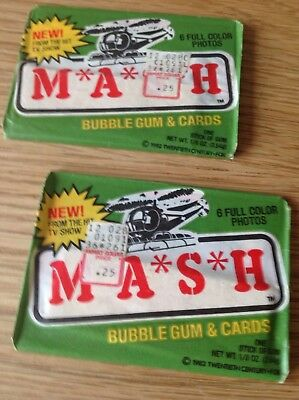 1982 Mash Trading Cards Unopened packs cards stickers bubblegum