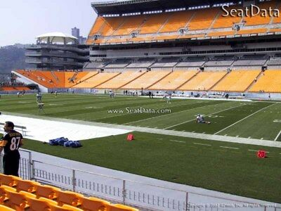 (2) Steelers 1st Preseason Home Game Tickets 20 Yard Line Lower Level !!