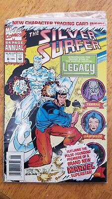 Silver Surfer Annual #6 1st Legacy Ronan 1993 sealed polybag with Character Card
