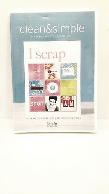CLEAN & SIMPLE SCRAPBOOKING - The Digital Kit - I SCRAP (CD-ROM) NEW & SEALED