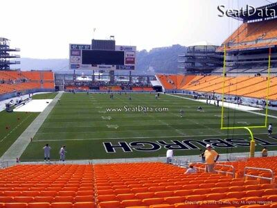 (2) Steelers 2nd Preseason Home Game Tickets 9th Row Lower Level !!
