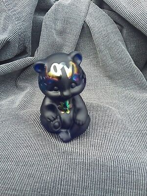 Fenton art glass bear peace and love bear check it out wow one of a kind