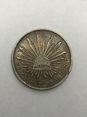 Republica Mexicana, 1896-S 8 Reales Silver Coin. !.Uncertified.! NR.