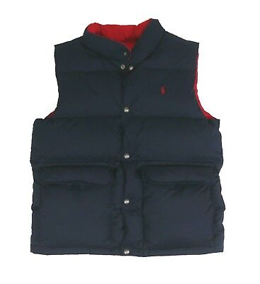Polo Ralph Lauren Reversible Down Vest Navy/Red Boys' Size L (14-16)
