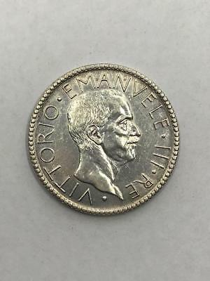 Italy, 1927 20 Lire Silver Coin. !.Uncertified.! NR.